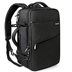 "Cabin Approved Size: The dimensions of the backpack are 55x34x18cm (21.6 x 13.4 x 7 Inch). You can carry it onto an airplane, demensional design meets the maximum size allowed by IATA flights, easy to carry around. Sufficient room for a 17"" laptop an..."