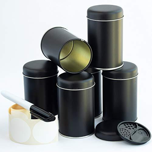 WachSam 12/24/48/168 Gewürzdosen Schwarz 175 ml mit 3-Fach Streueinsatz | Luftdicht verschließbar | Top Qualität aus Österreich und Deutschland