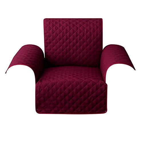 1989candy Canapé Amovible Lavable pour Animal de Compagnie Couch Accoudoir Coussin Tapis (Vin Rouge S)