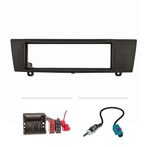 tomzz Audio 2404-047 Set copertura radio compatibile con BMW Serie 1 Serie 3 X1 Z4 con adattatore Quadlock Adattatore antenna ISO Fakra Modelli DIN Can-Bus