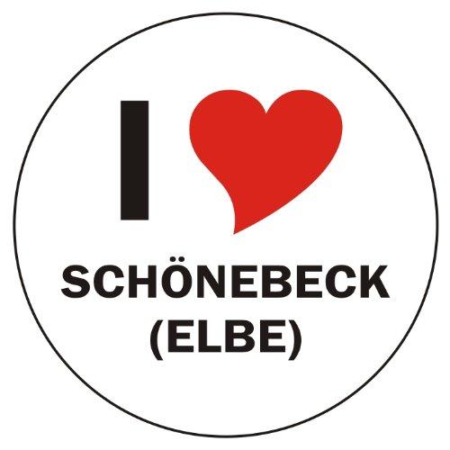 I Love SCHÖNEBECK (ELBE) Laptopaufkleber Laptopskin 210x210 mm rund