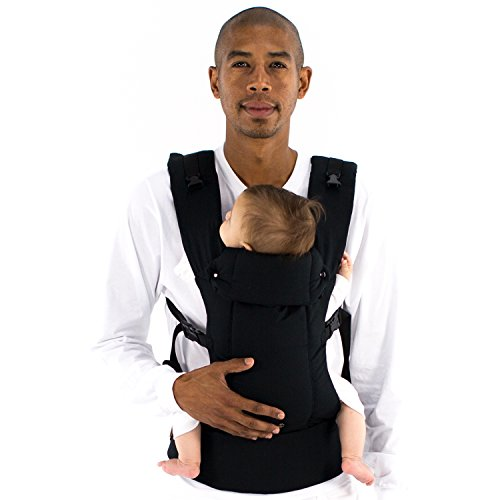 Beco Gemini Baby Carrier - [Organic Metro Black], Sleek and Simple 5-in-1 All Position Backpack Style Sling for Holding Babies, Infants and Child from 7-35 lbs Certified Ergonomic