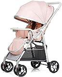 Cochecito de bebé Ligero recién nacido Carrito de bebé Cochecito de viaje para niño recién nacido Cochecito para niños pequeños Cochecito de bebé Puede sentarse reclinable plegable ultrarrápido portát