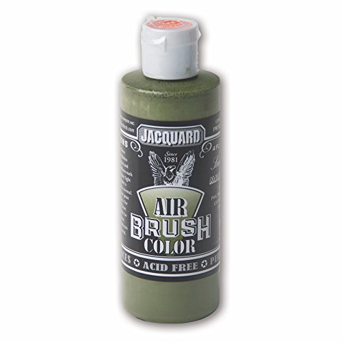 Sneaker Series Airbrush Color by Jacquard, Artist-grade Fluid Acrylic Paint, Use on Multiple Surfaces, 4 Fluid Ounces, Military Green