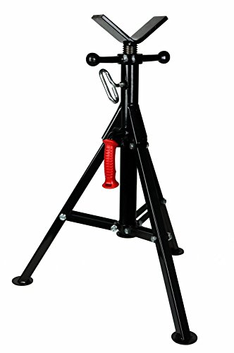 "Toledo Pipe 22168 1/8""-12"" Portable Folding V Head Pipe Stand Adjustable 25.5""-39.5"" fits RIDGID Model VF-99 56662"