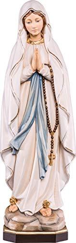 Ferrari & Arrighetti Statua della Madonna di Lourdes in Legno Dipinto a Mano, Linea da 12 cm - Demetz Deur