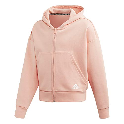 adidas Mädchen Must Haves Doubleknit 3-Stripes Full-Zip Sweatjacke Apricot, Weiß Jacken, 164