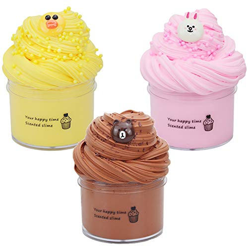 Fluffy Slime Kit, BESTZY Slime Supplies Juguete de Bricolaje para aliviar el estrés, Masilla de Juguete Flamingo Cloud Slime, DIY Arcilla Colorida Suave, 100 ML