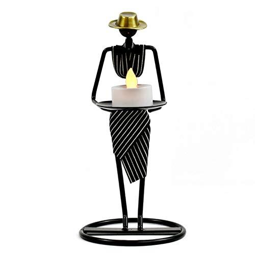Candelabro de metal, carácter abstracto de la escultura de la escultura del camarero para la cocina del restaurante romántico de la cocina Candlestica , Agregue una atracción de este tipo a su espacio