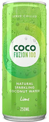 Coco Fuzion 100 Lime - 100 Prozent spritziges natürliches Kokoswasser 12'er Pack (12 x 250ml)