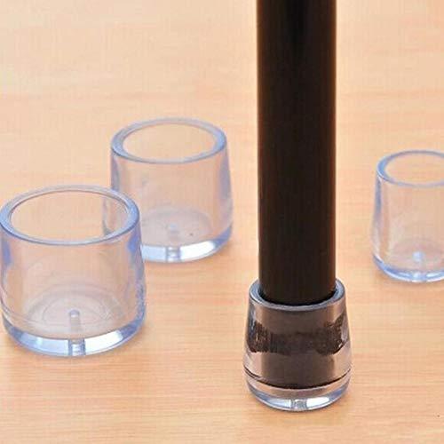 1 Stuhlbeinkappen Gummifüße Schutzpolster Wohnmöbel Tischsocken Lochstopfen Staubschutzmöbel Nivellierfüße -25mm