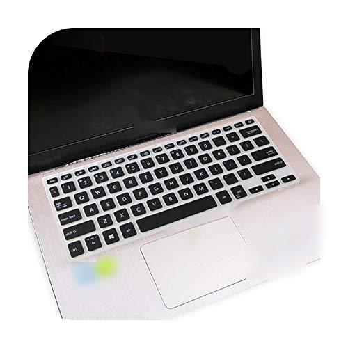 Para Asus Vivobook Flip S14 Tp412Ua Tp412 Vivo Book 14 X420 X420U X420Ua de 14 pulgadas Notebook Keyboard Protector Cover Skin-Black-