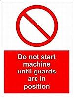 注意標識-警備員が所定の位置に来るまで機械を始動しないでください。通知用インチ道路交通の危険屋外防水および防錆金属錫標識