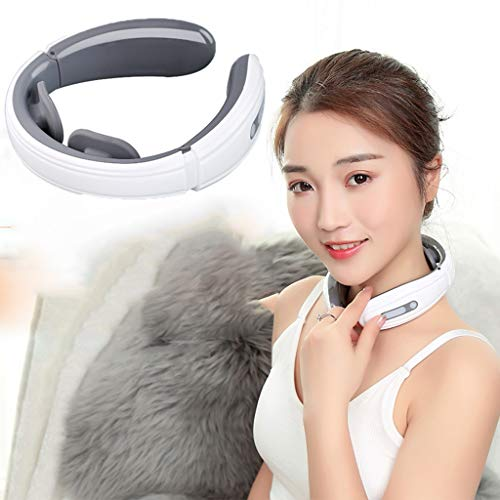 YUEXIN Neck Massager, Shoulder Back Massager, Neck Massager Electric, Intelligent Wireless Portable 3D Neck Massager, Relieve Neck Muscle Pain, Stiff and Fatigue,Suitable for Home