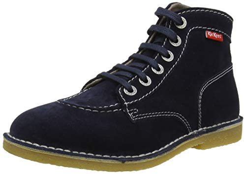 Kickers Orilegend, Zapatos de Cordones Derby para Mujer, Azul (Marine Perm 10), 38 EU