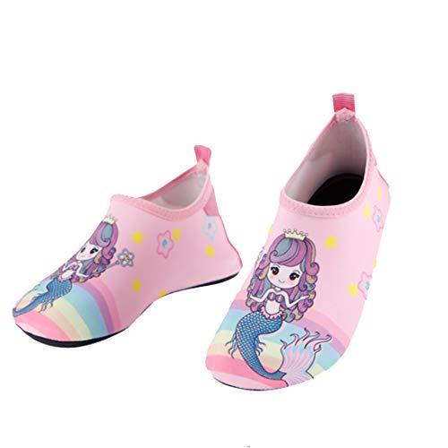 Gwell - Zapatillas de agua para niños, antideslizantes, de secado rápido, para surf, surf, para niños y niñas sirenita 34/35