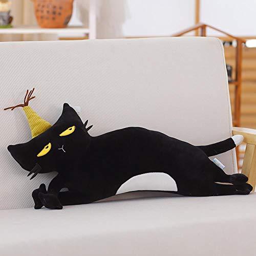 WGOO Pillow Weiche Plüschtier Dichtung Spielzeug Tier Plüsch Kissen für Kinder,Weiches Plüschkissen In Tierform,Umarmungspuppe Heimtextilien,Katze,50CM