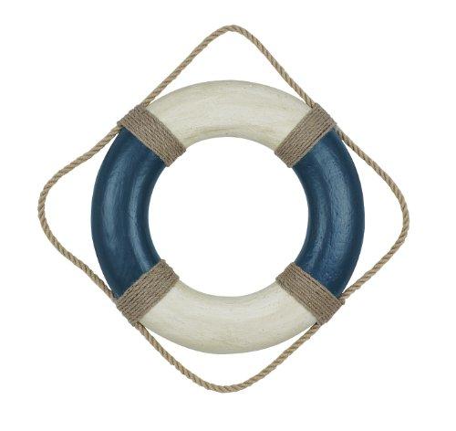Nautic Spezial MV Deko Rettungsring Ø 36 cm blau-Creme Styropor lackiert