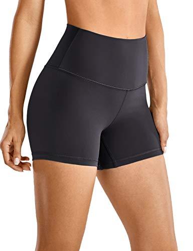 CRZ YOGA Mujer Pantalones Cortos Deportivos de Cintura Alta Running Pantalones Cortos-10cm...