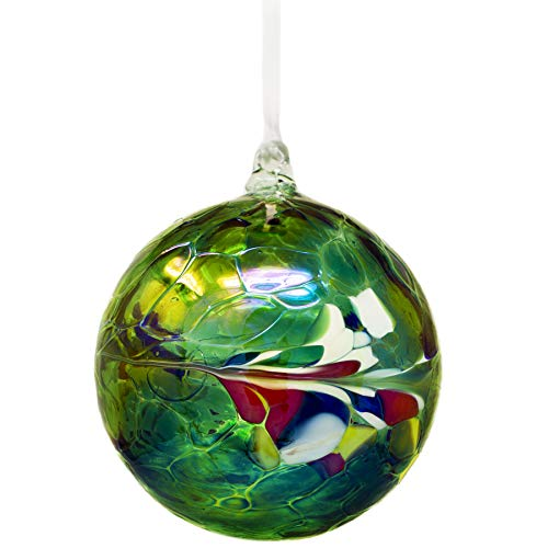MILFORD Large Green Friendship Globe Hanging Ornament