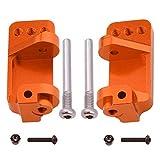 Hobbypark Aluminum Alloy Caster Blocks for RC 1/10 Traxxas 2WD Slash, Stampede, Rustler, Nitro Slash, Replacement of Part 3632 (Orange)