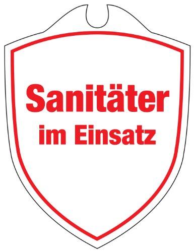 KLK Erwachsene Sanitäter im Einsatz Autoschild, Rot, One Size