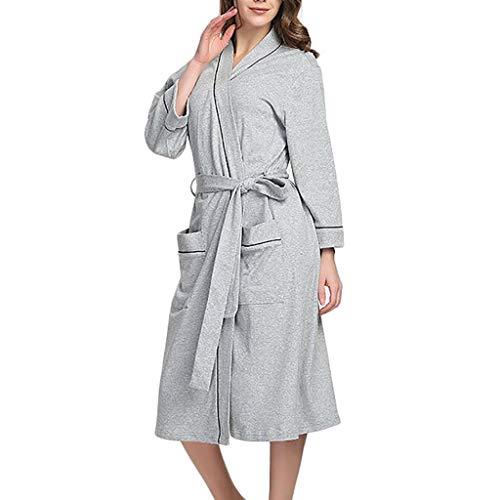 Susenstone Pyjama Femme Grande Taille Sexy Lingerie en Coton Chic Pas Cher Robe De Chambre Pyjama Peignoir De Bain VêTements De Nuit