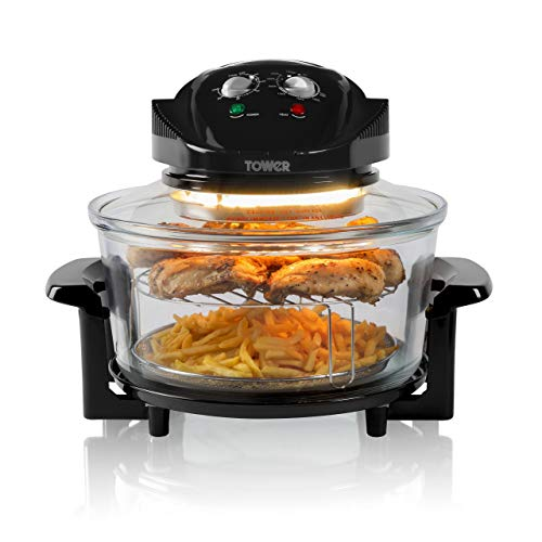 Tower Halogen Airwave Low Fat Air Fryer, Triple Cooking Power of Halogen,...