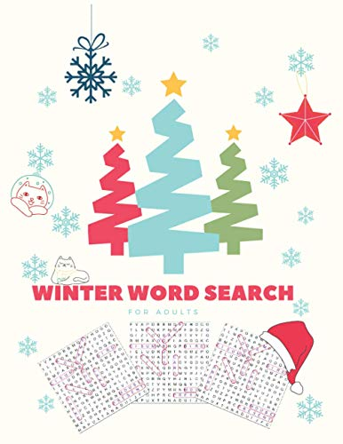 Winter Word Search Book For Adults: wordsearch Books For Adults | Brain Exercise | Activities Crafts And Games | Crossword Books For Adults | Winter ... Inch | For Holiday Fun With Perfect Gifts