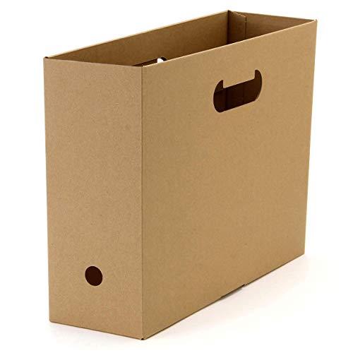 軽量で、ラフに使えるダンボール製のボックスです。頻繁に移動させず、置き場所を決めて使う場合に向いています。倒れずしっかり自立するので、書類整理に使いやすい!
