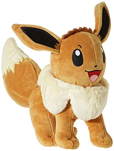 eevee peluche BANDAI Pokemon Eevee Volpe Evoli Peluche 20cm Sorridente - Originale WCT