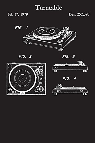Turntable: Journal - Record Player Music Turn Table Log Book (Blank Lined Notebook)