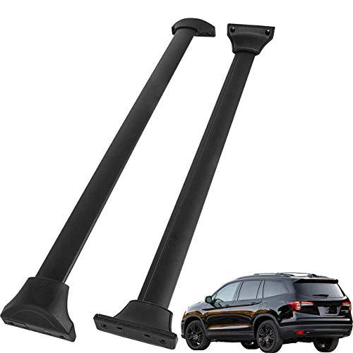 Tata.Meila 2 Pcs Roof Rack Cross Bars for Honda Pilot 2016 2017 2018 2019 2020 2021 Top Roof Rails Luggage Carrier Black Aluminum