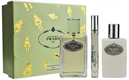 Prada Infusion D'Iris Geschenkset 100ml Eau de Parfum Spray + 100ml Body Lotion + 10ml EDP Eau de Parfum Roll On
