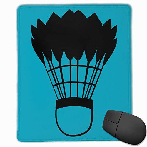 Office Mouse Pad Schwarz Badminton Lustige Grafik Rechteck Gummi Mousepad Gaming Mouse Pad mit Black Lock Edge