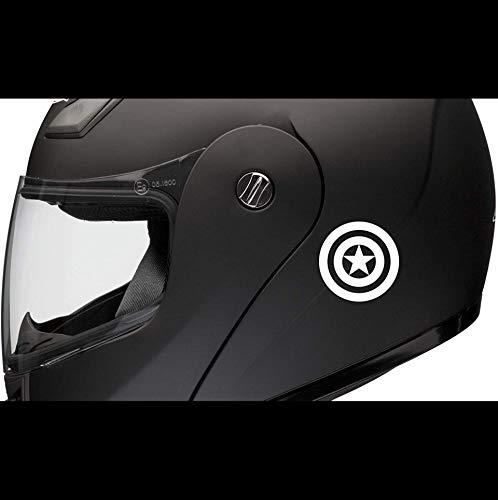2 pegatinas para casco de Capitán América de Superstick, pegatinas para moto, coche, tuning, de alto rendimiento, para todos lisos