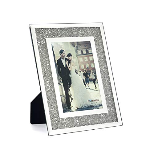 homeme Crystal Sparkle Mirror Glass Picture Frames (5 x 7)