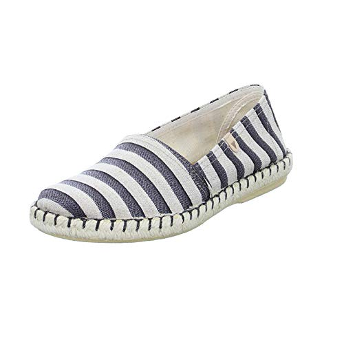 VERBENAS dames slipper ALBA Zenit zomerse linnen schoenen espadrilles uit Spanje met bast zool zwart (Negro) 1760305031