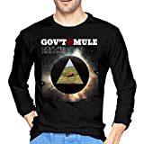 Fenglinghua - Camiseta de manga larga para hombre Gov't Mule Dark Side of The Mule T Shirts Black...