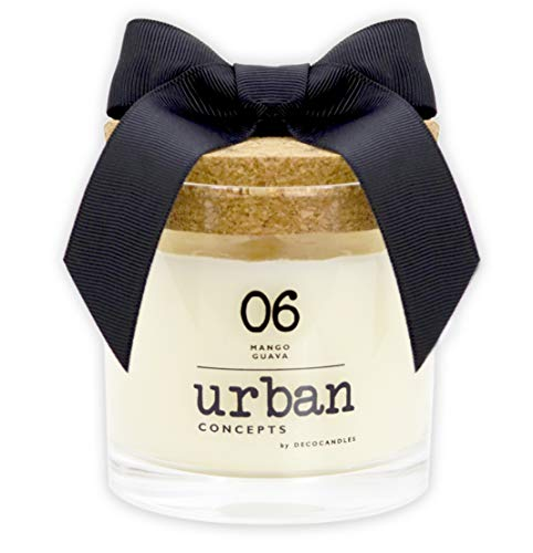 Urban Concepts by DECOCANDLES   Lush- Mango Guava - Highly Scented Candle - Long Lasting - Hand Poured in The USA - Hotel Inspired Collection - 6.7 Oz. w/ Cork lid