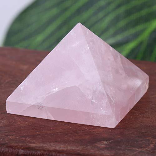 Estatua de energía rosa pirámide de cuarzo rosa del antiguo Egipto, pirámide de cristal, pisapapeles decoración del hogar para la buena suerte en la vida
