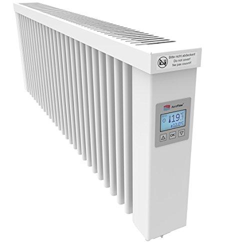 AeroFlow Elektroheizung SLIM 1200 mit Schamottekern app-ready FlexiSmart-Displayregler (Android, iOS) elektrische Zusatzheizung, Nachtspeicher Ersatz, Elektroheizkörper-Heizgerät
