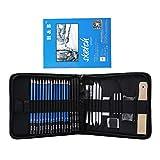 Colcolo Pro Sketching Pencil Set Kit Completo de Herramientas de Dibujo para Principiantes Y Estudiantes