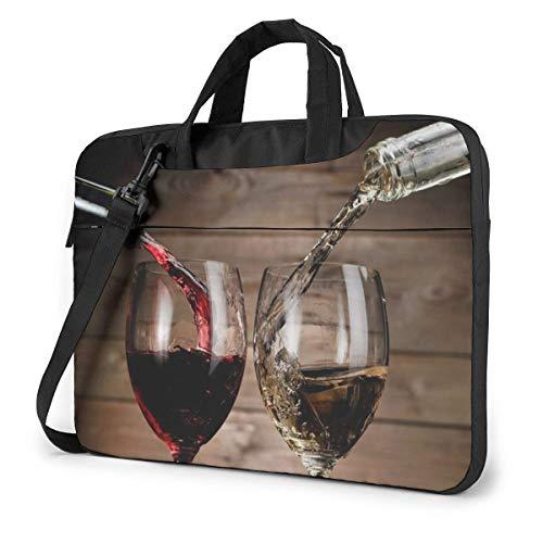 Lawenp Estuche para computadora portátil Funda para bolsa de computadora Bebidas de vino Botellas de vidrio Maletín de hombro impermeable 13 14 15.6 pulgadas