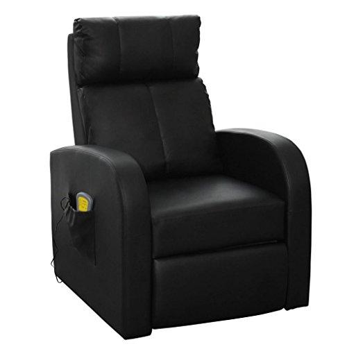 Festnight Massagesessel Relaxsessel Massage-Stuhl mit Fernbedienung Fernsehsessel Sitzkomfort Schwarz