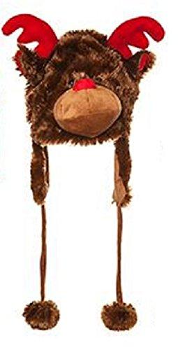 Novità per bambini Furry Cappello di Natale - Renna design
