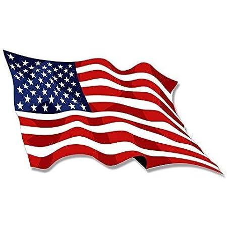 USA American Flag Patriotic Waving Decal Sticker Car Vinyl reflective glossy a