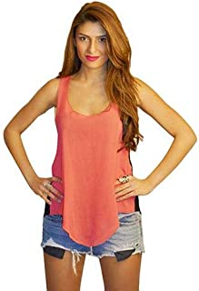 Hipster Ob2Scbl-M Sleeveless Top For Women - M, Coral