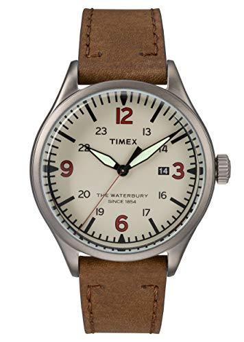 Timex Reloj Analógico para Hombre de Cuarzo con Correa en Cuero TW2R38600