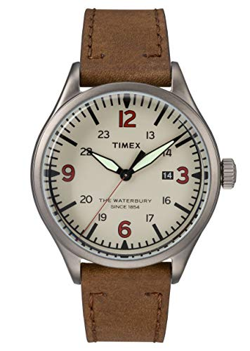 Timex Orologio Analogico Quarzo Uomo con Cinturino in Pelle TW2R38600